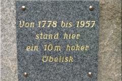 Platte mit Inschrift